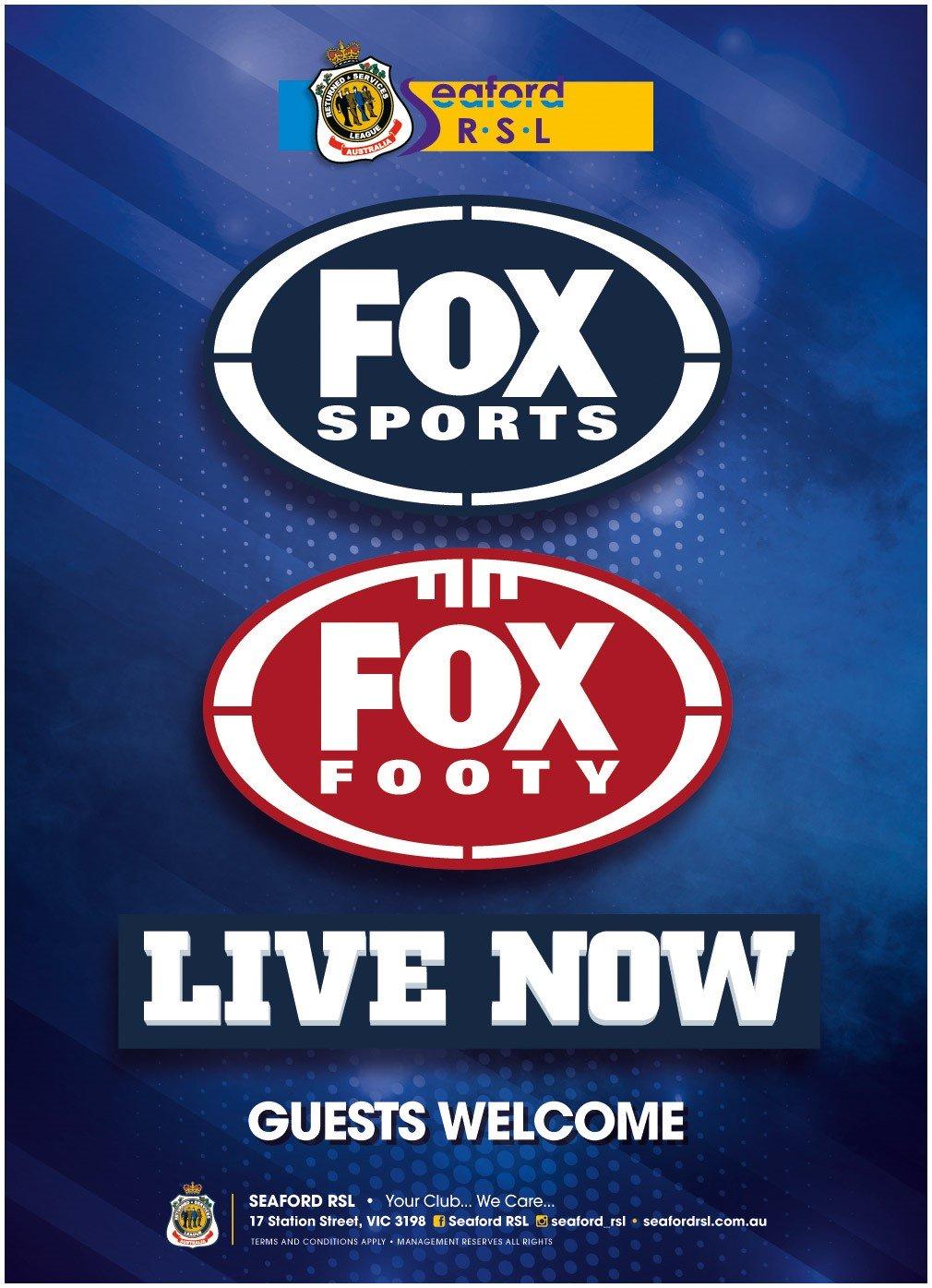 Fox Sports Now Live Seaford Rsl